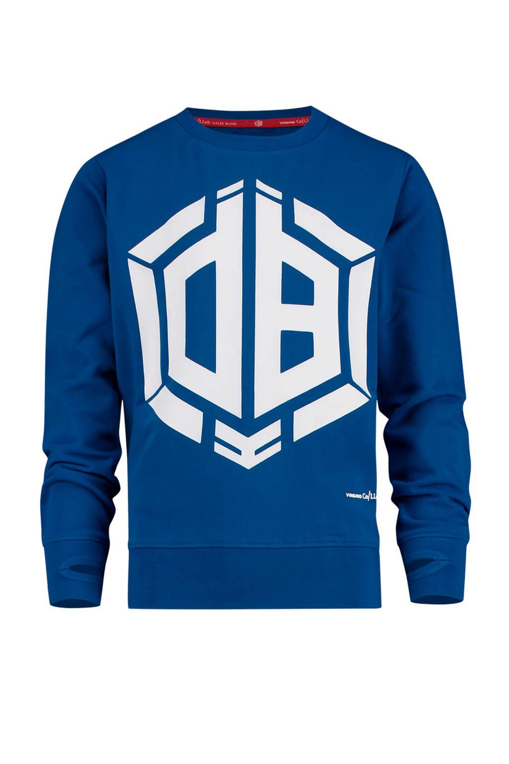 Vingino sweater Nino met logo van Daley Blind blauw, Blauw