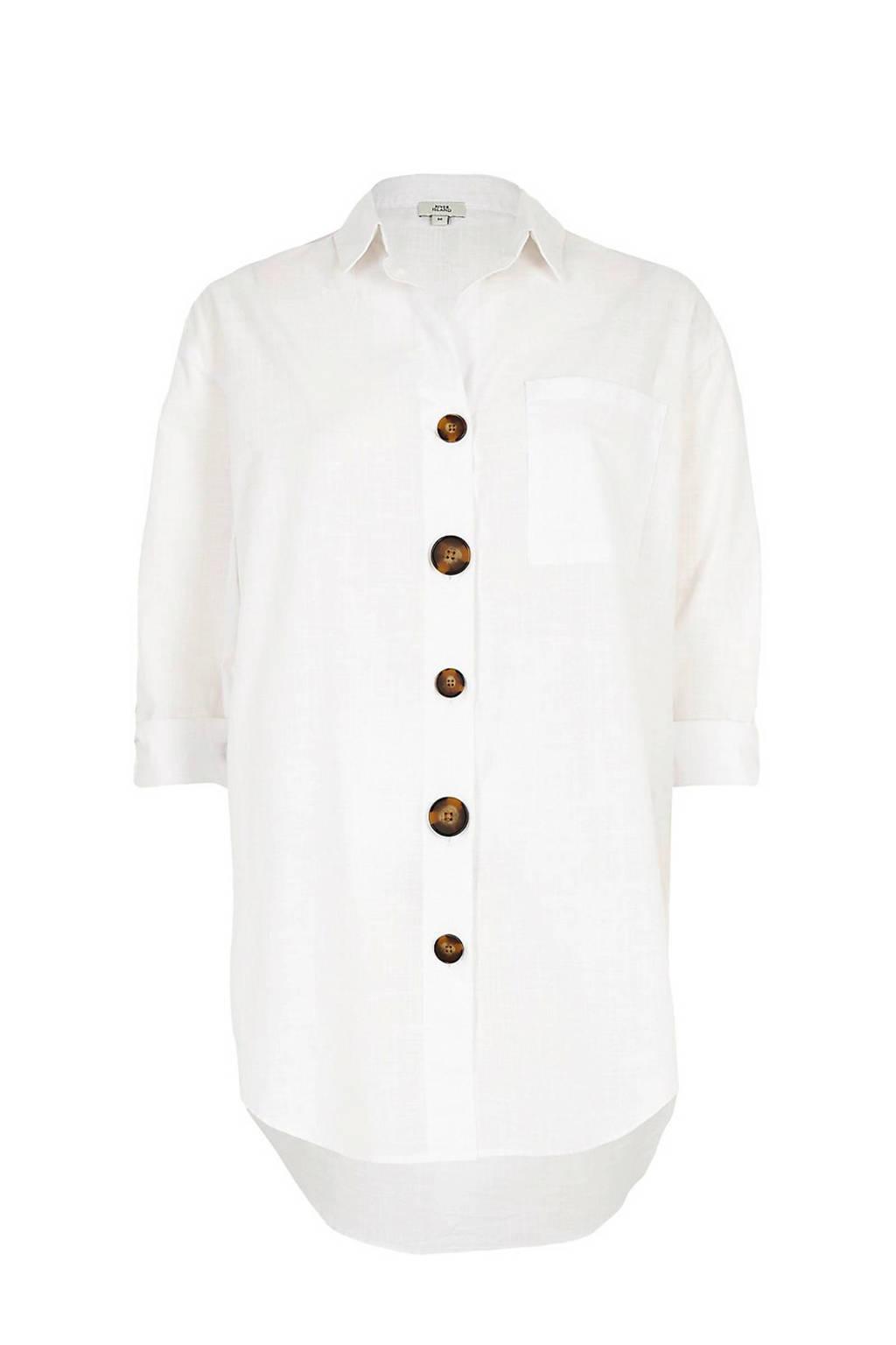 River Island blouse met knopen, Wit