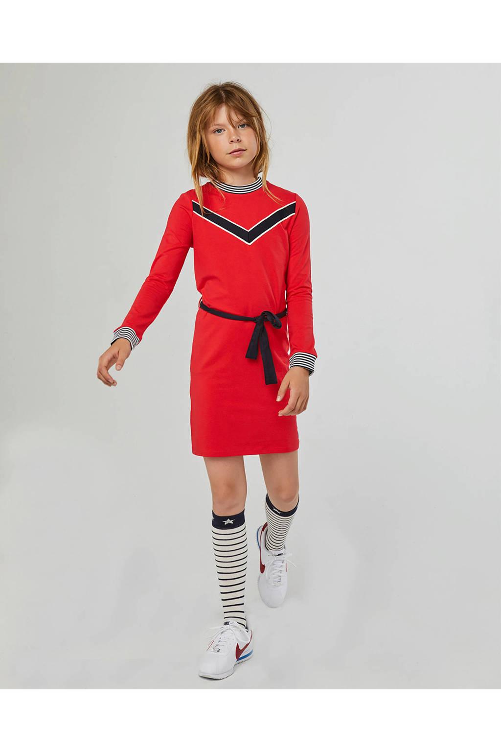 WE Fashion jurk rood, Roodroze