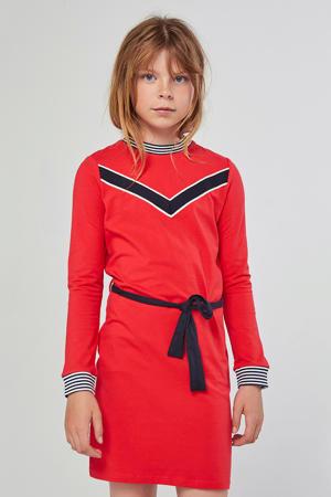 jersey jurk met printopdruk roodroze