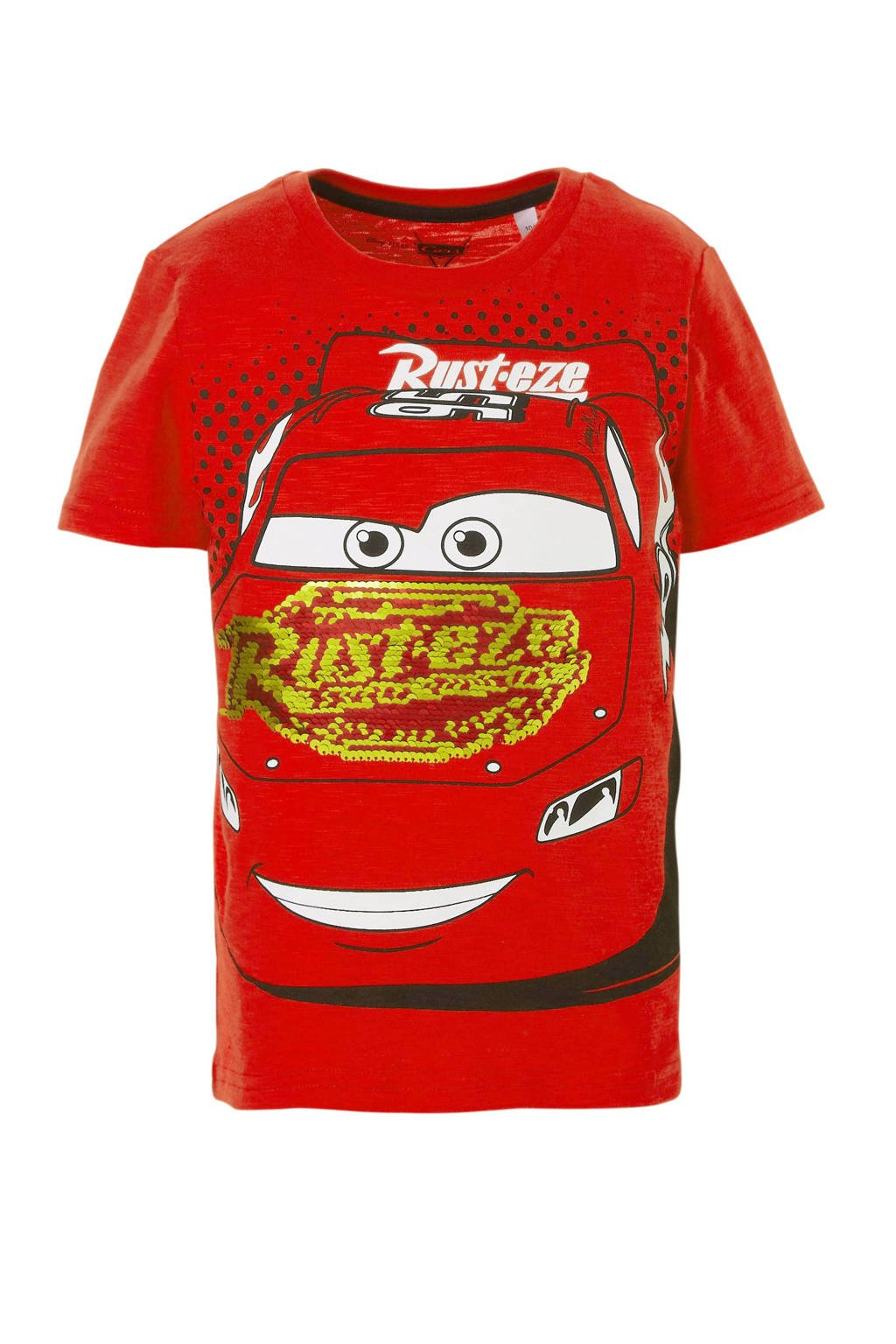 Disney @ C&A Cars T-shirt met omkeerbare pailletten rood, Rood