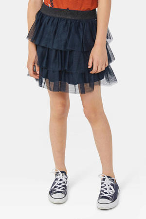 mesh rok donkerblauw