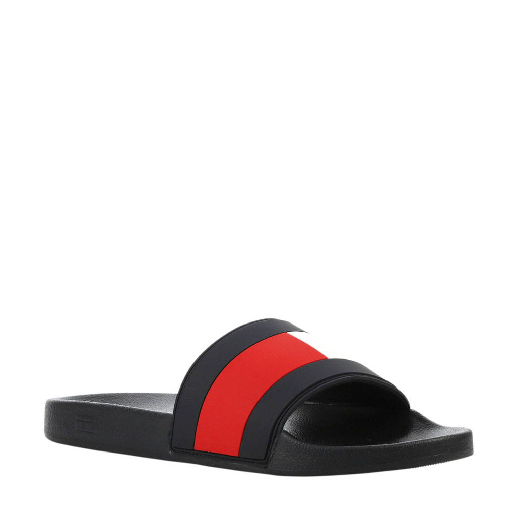 033a47008 Tommy Hilfiger Essential Flag Pool Slide slippers rood blauw