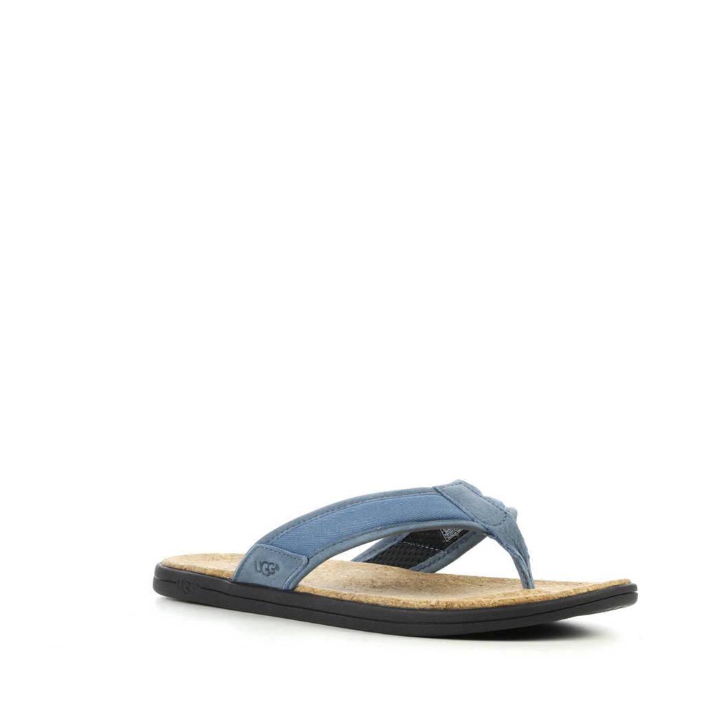 UGG   Seaside Flip teenslippers blauw, Blauw