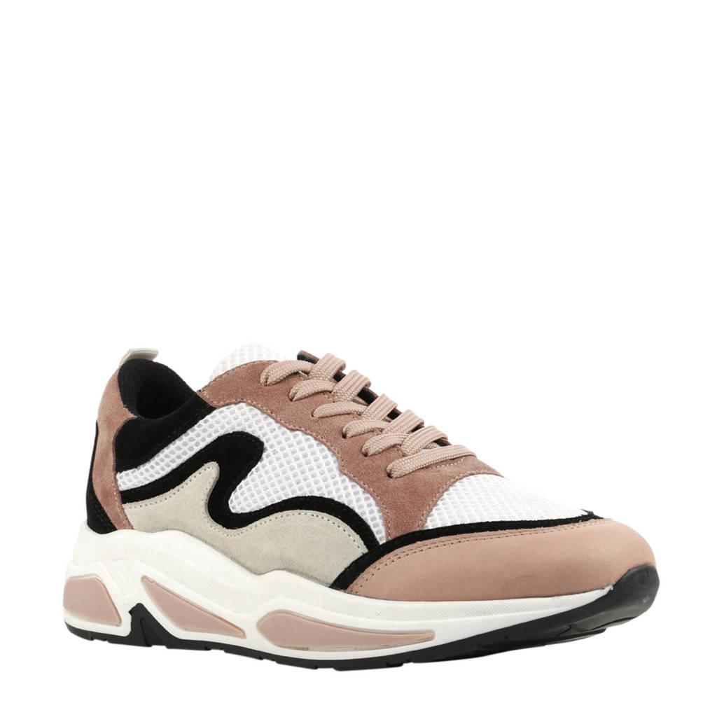 Mace  171-27740 sneakers oudroze, Oudroze/wit/beige