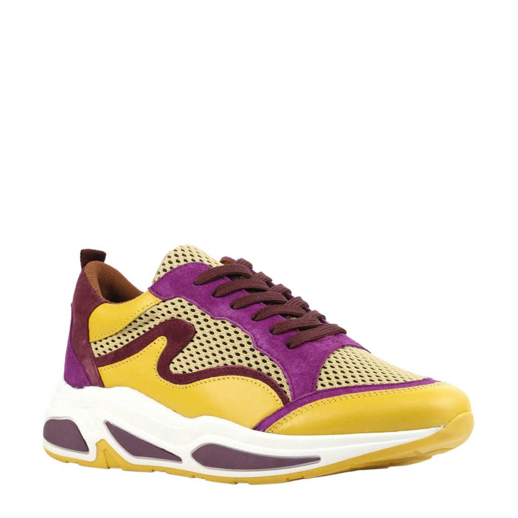 Mace  171-27740 sneakers geel, Geel/paars