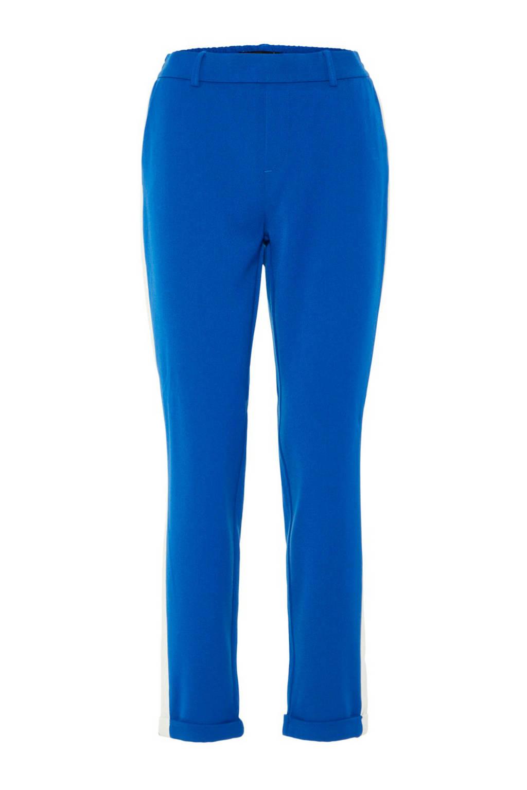 VERO MODA broek met zijstreep, Blauw