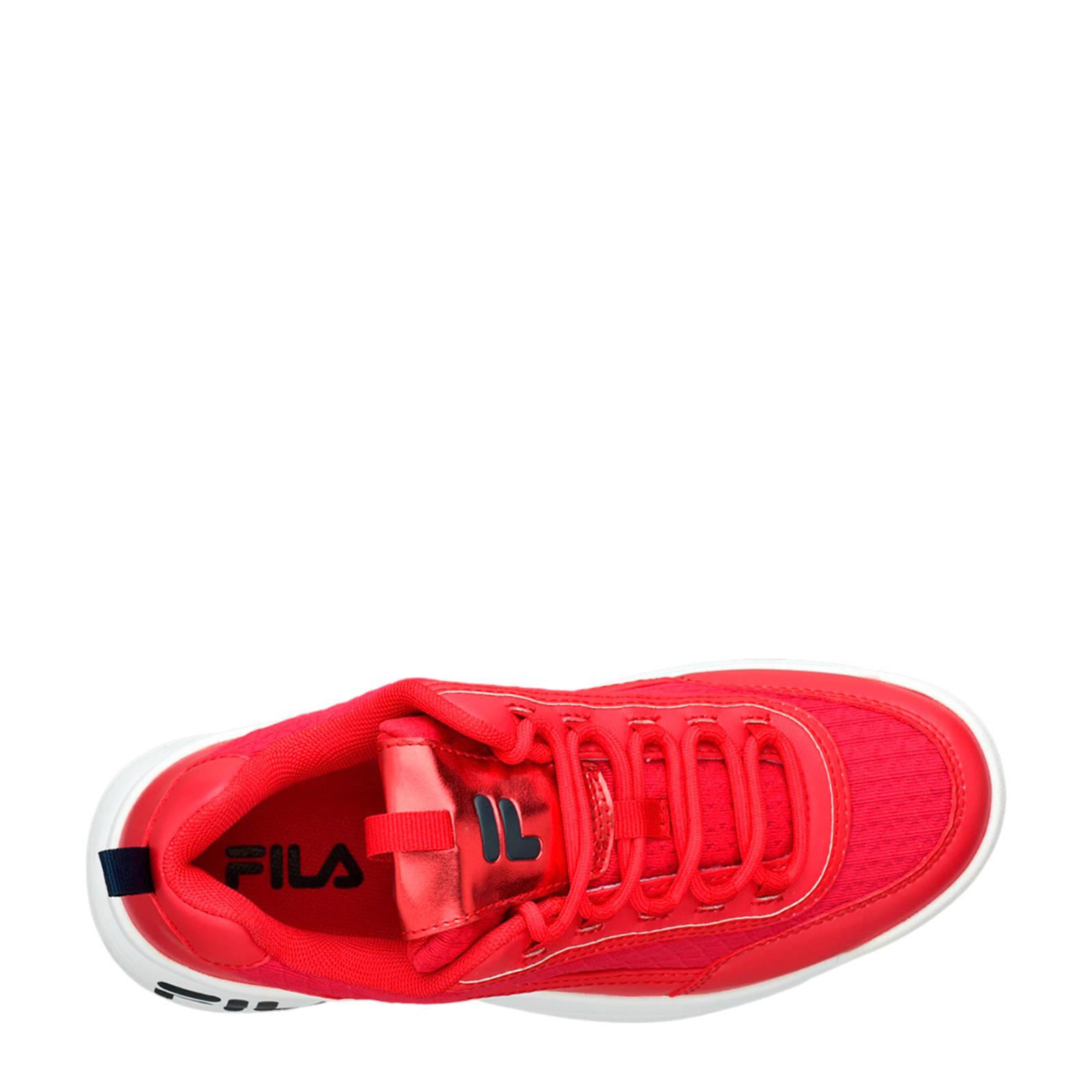Fila chunky sneakers rood   wehkamp