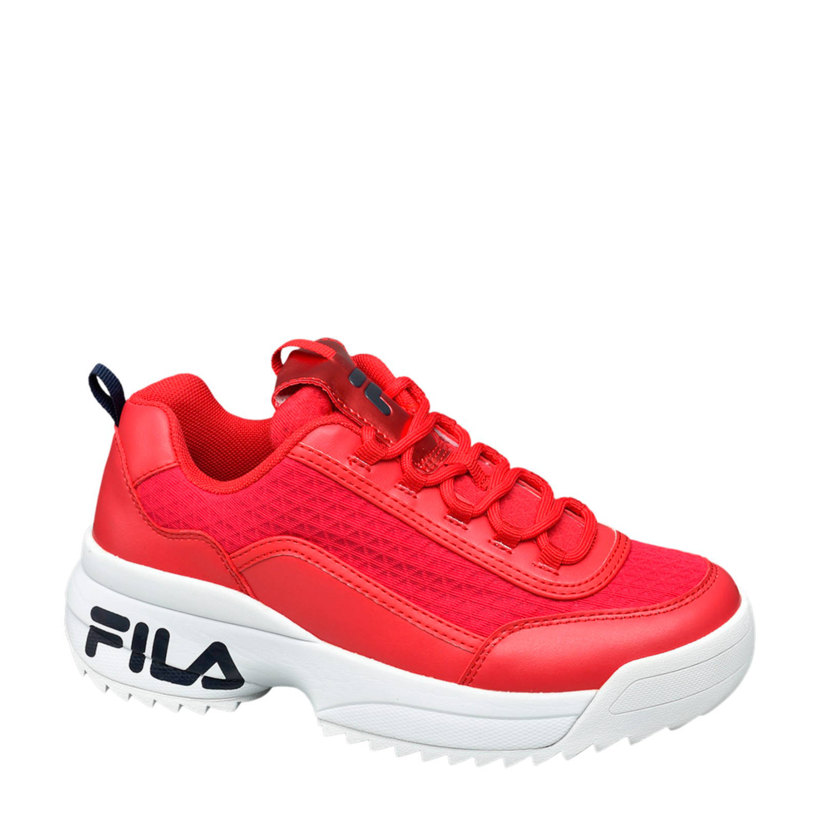 chunky sneakers rood