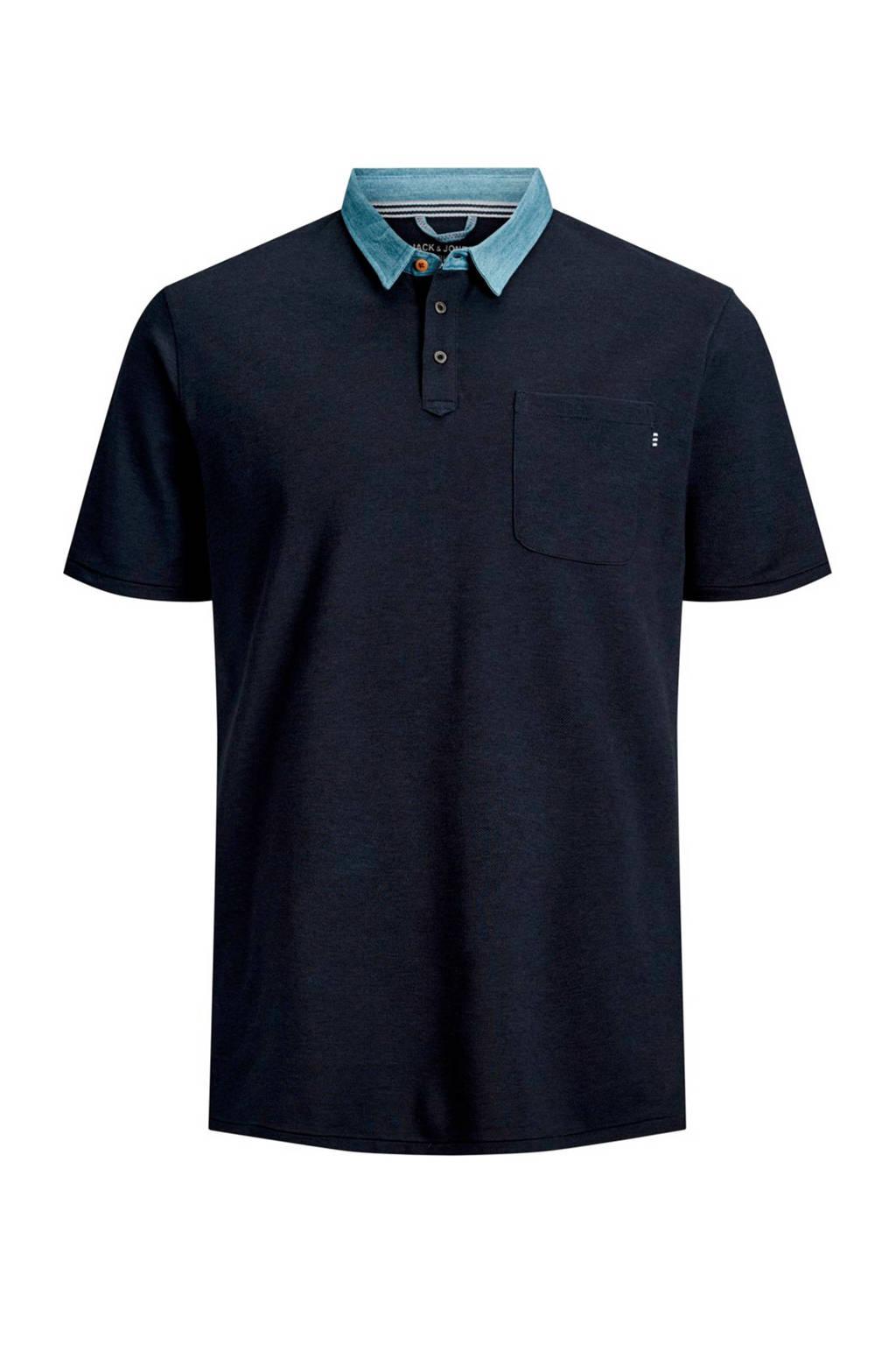 Jack & Jones Plus Size polo marine, Marine/licht denim