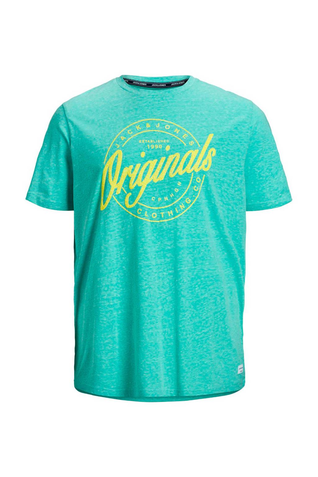 Jack & Jones Plus Size T-shirt met logo lichtblauw, Lichtblauw