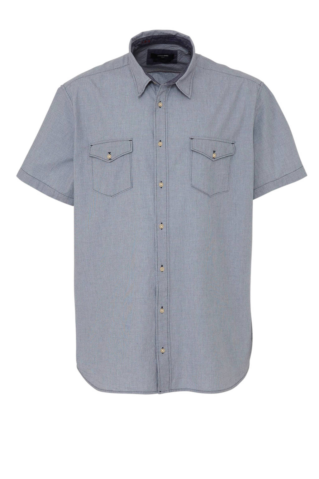 Jack & Jones Plus Size regular fit overhemd met all over print, Blauw