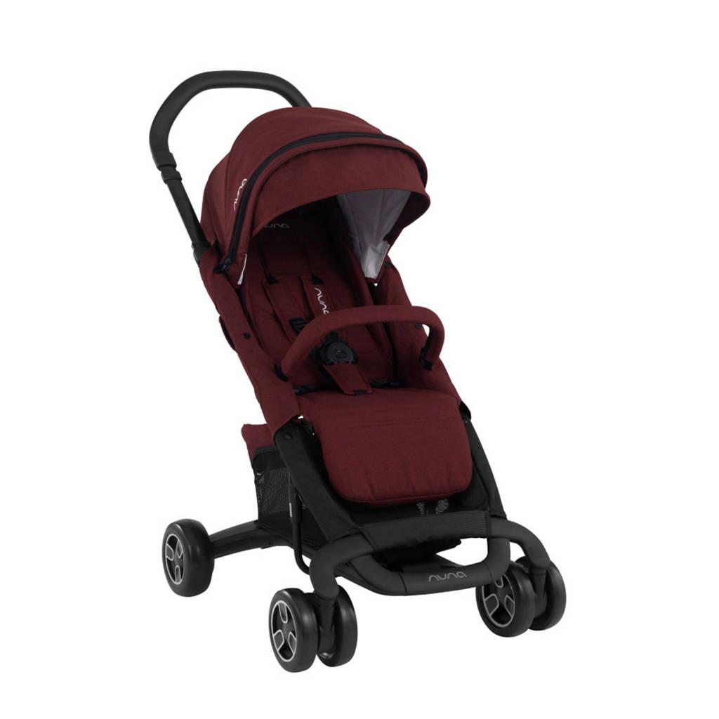 Nuna Pepp™ Next buggy met regenhoes donkerrood, Donkerrood