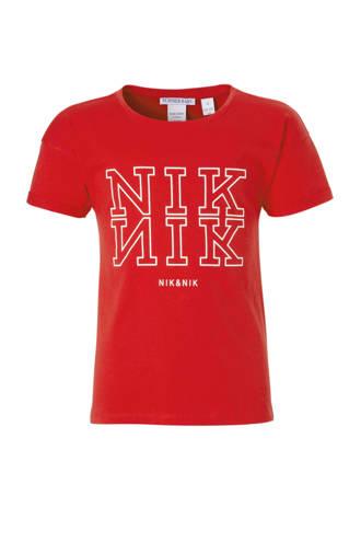 T-shirt Willemijn met logo rood