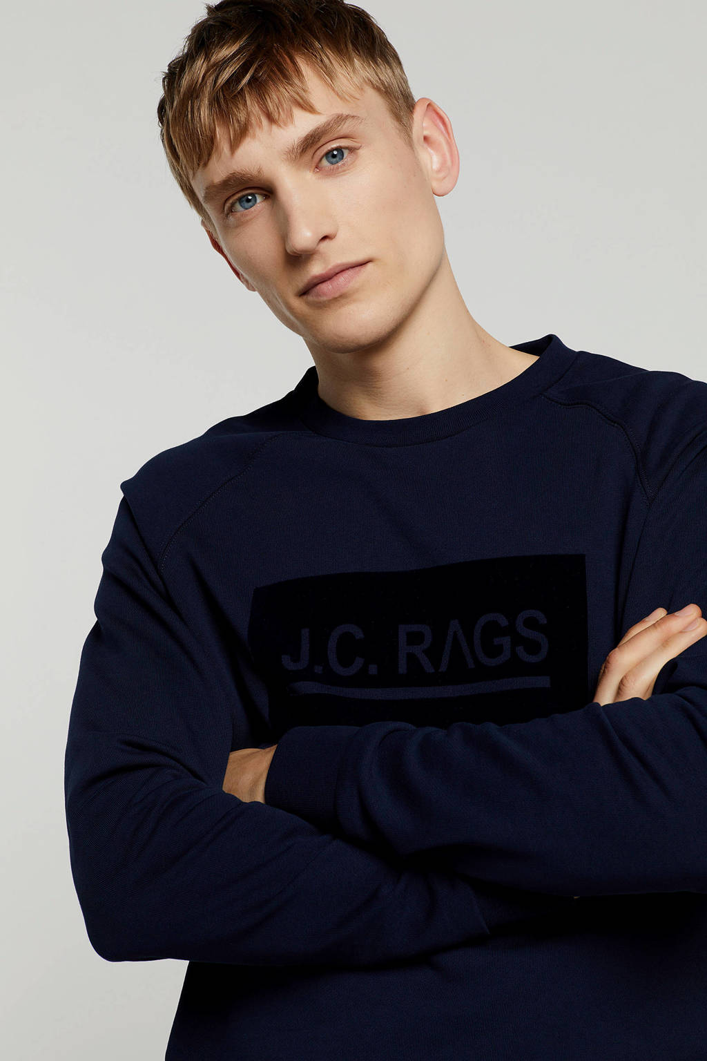 J.C. Rags sweater, Donkerblauw