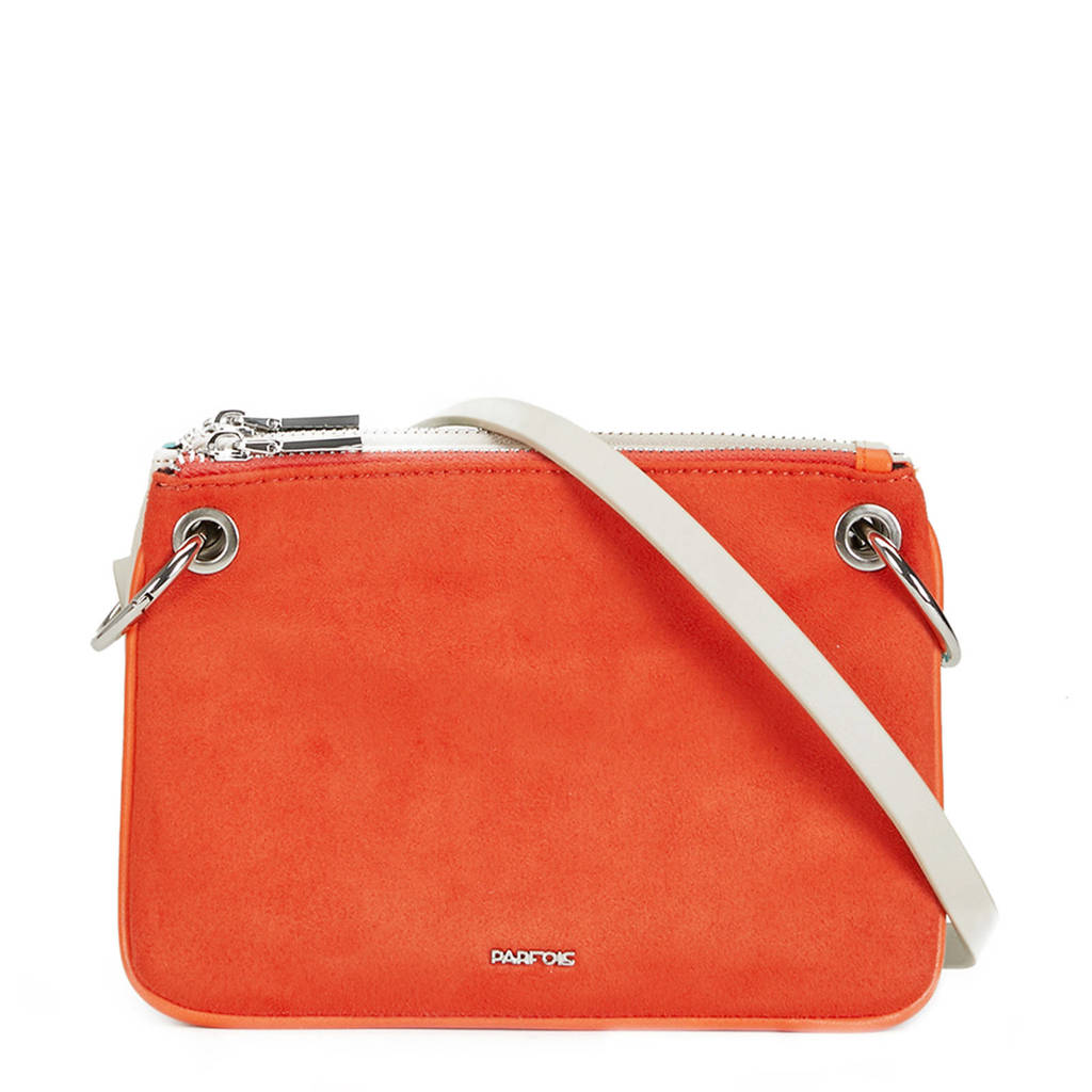 Parfois   crossbody oranje, Oranje/wit/blauw