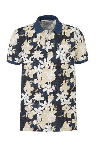 regular fit polo met all over print
