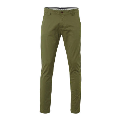 Tommy Jeans slim fit chino groen