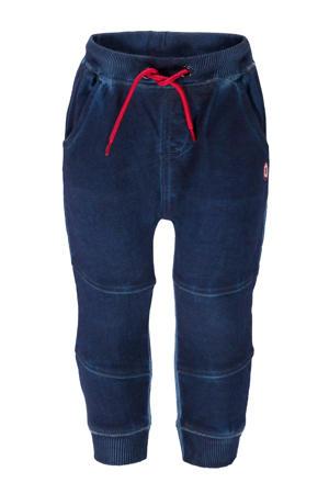 skinny joggingbroek met printopdruk donkerblauw