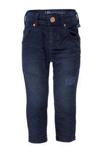 lief! skinny jeans met slijtage donkerblauw, Donkerblauw