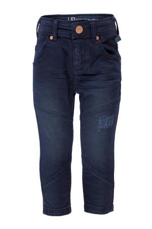 skinny jeans met slijtage donkerblauw