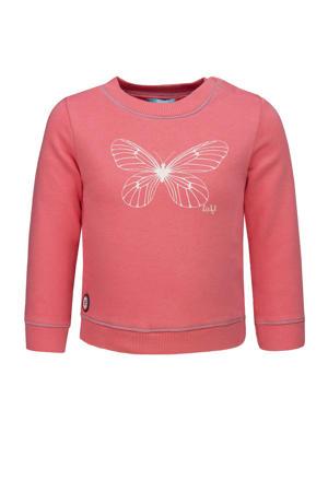 sweater met printopdruk lichtroze