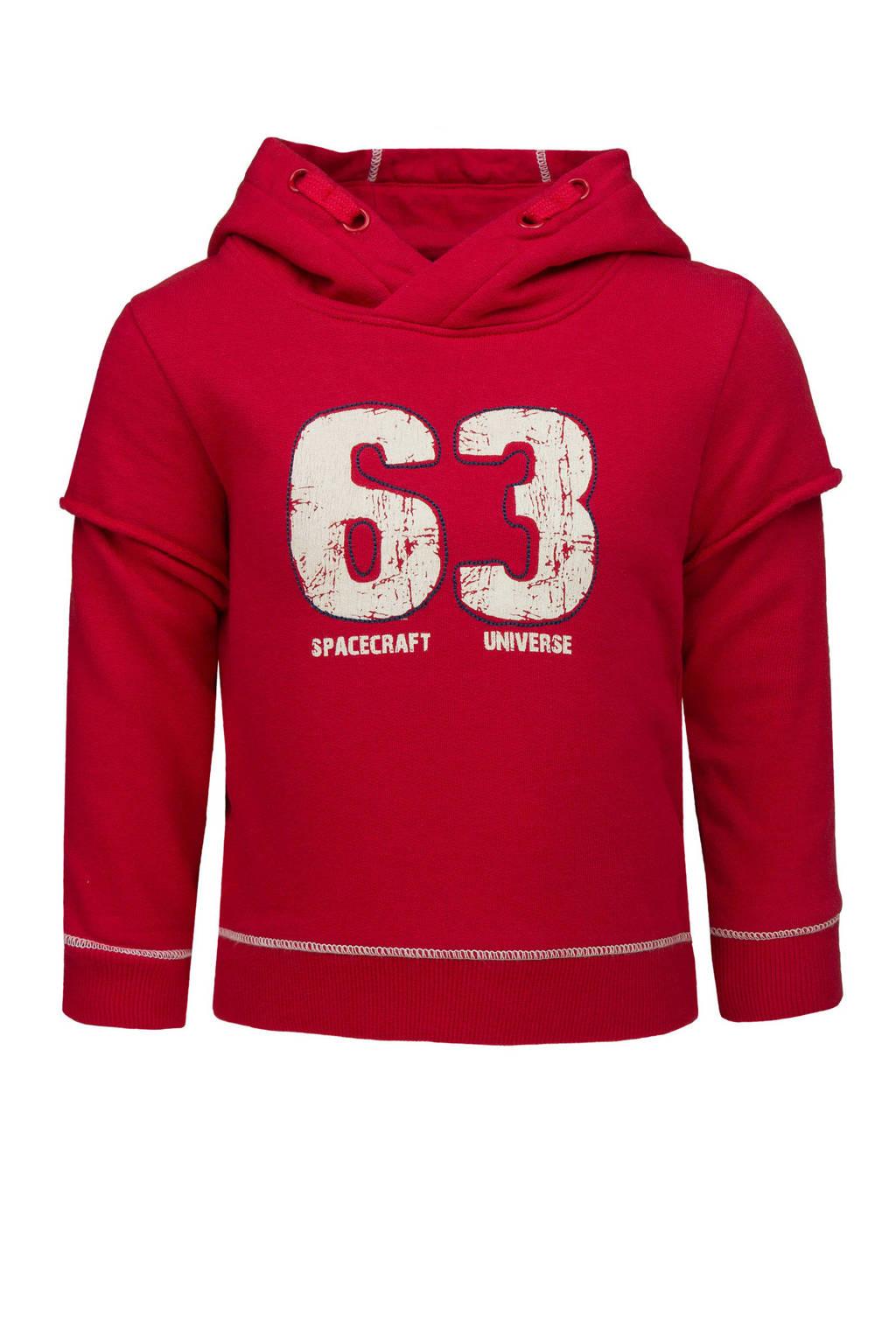 lief! hoodie met tekst rood, Rood