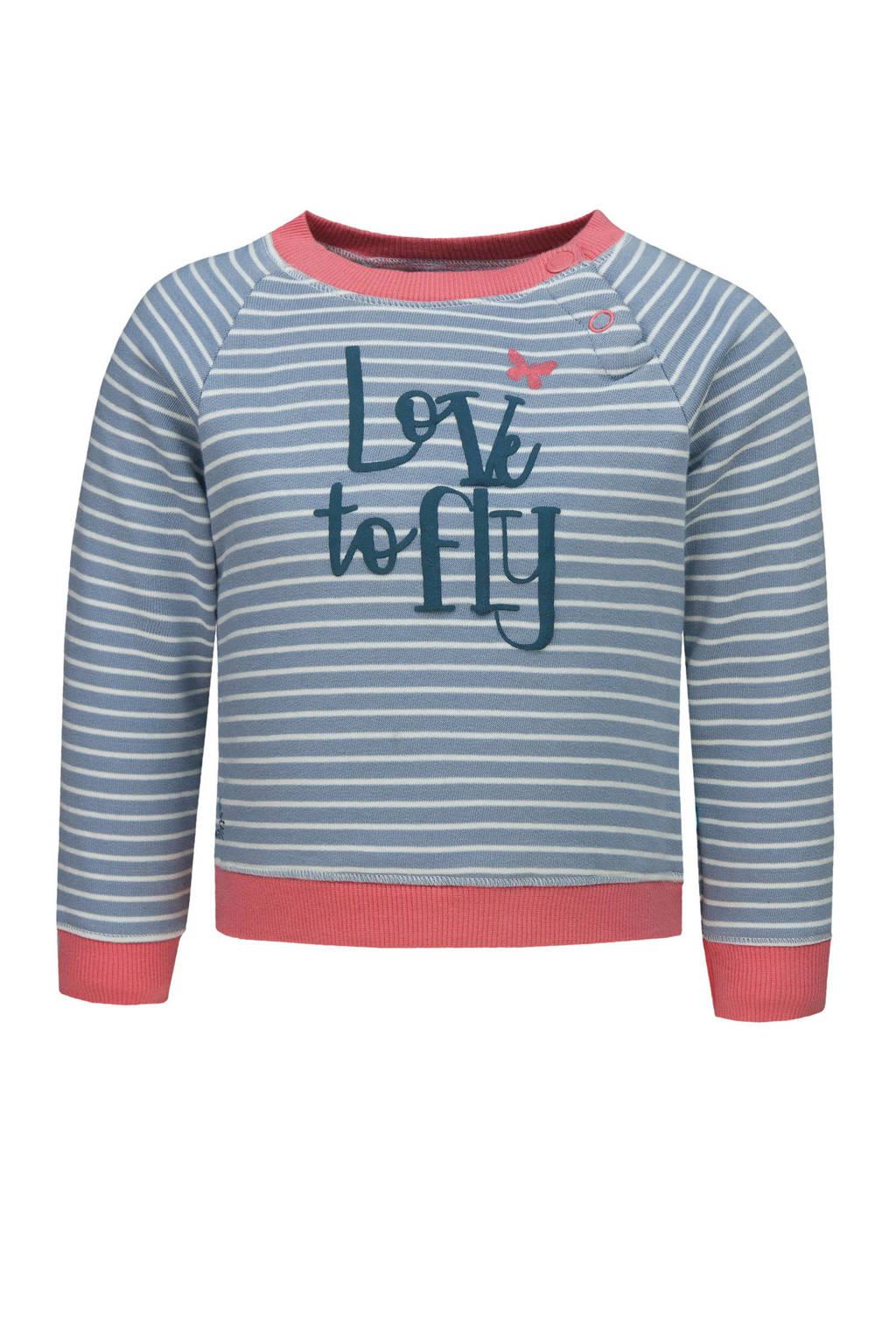 lief! gestreepte sweater lichtblauw, Lichtblauw