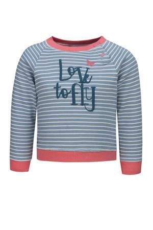 gestreepte sweater lichtblauw