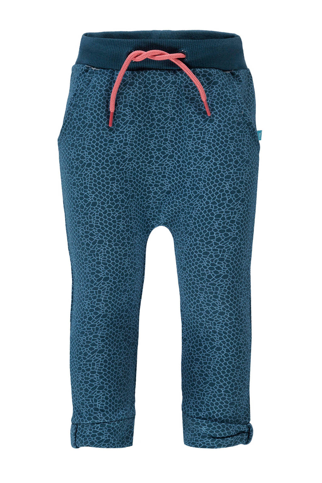 lief! skinny joggingbroek met all over print donkerblauw, Donkerblauw