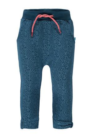 skinny joggingbroek met all over print donkerblauw