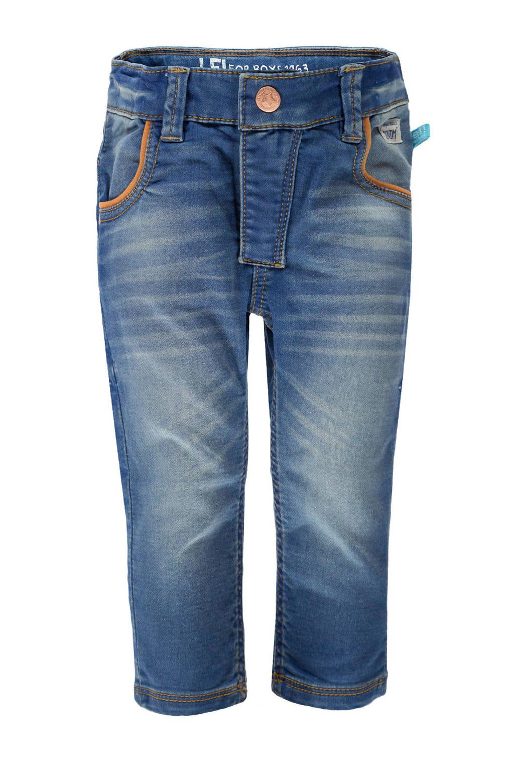 lief! skinny jeans met zijstreep donkerblauw, Donkerblauw