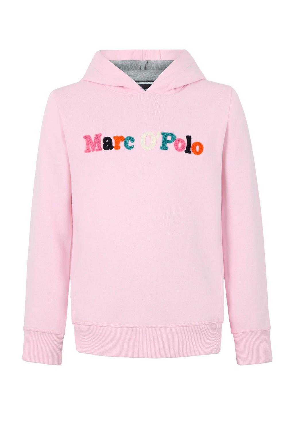 Marc O'Polo hoodie met logo lichtroze, Lichtroze