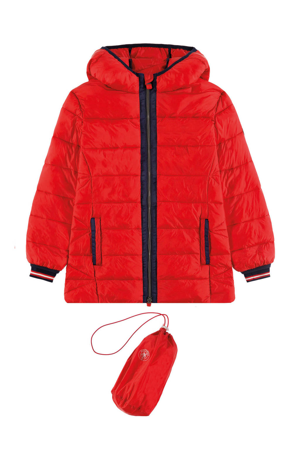 Marc O'Polo winterjas rood/zwart, Rood/zwart