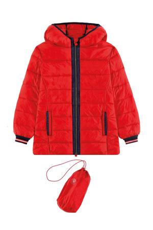 winterjas rood/zwart