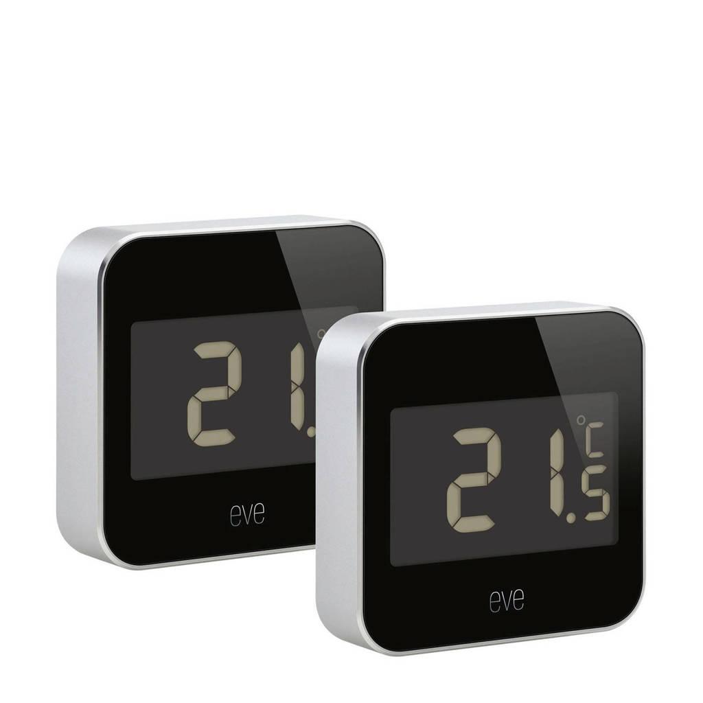 Elgato DEGREE temperatuur- en luchtvochtigheid monitor, Zilver, Zwart