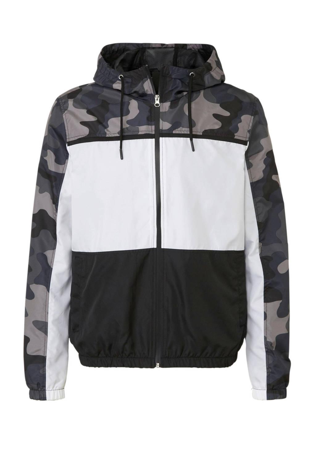 C&A Clockhouse jack, Wit/zwart/camouflage