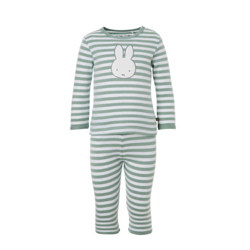 nijntje gestreepte pyjama mintgroen