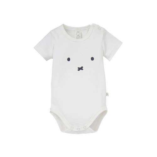 nijntje newborn romper met print wit