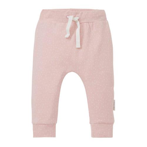 Little Dutch newborn broek met all over print roze