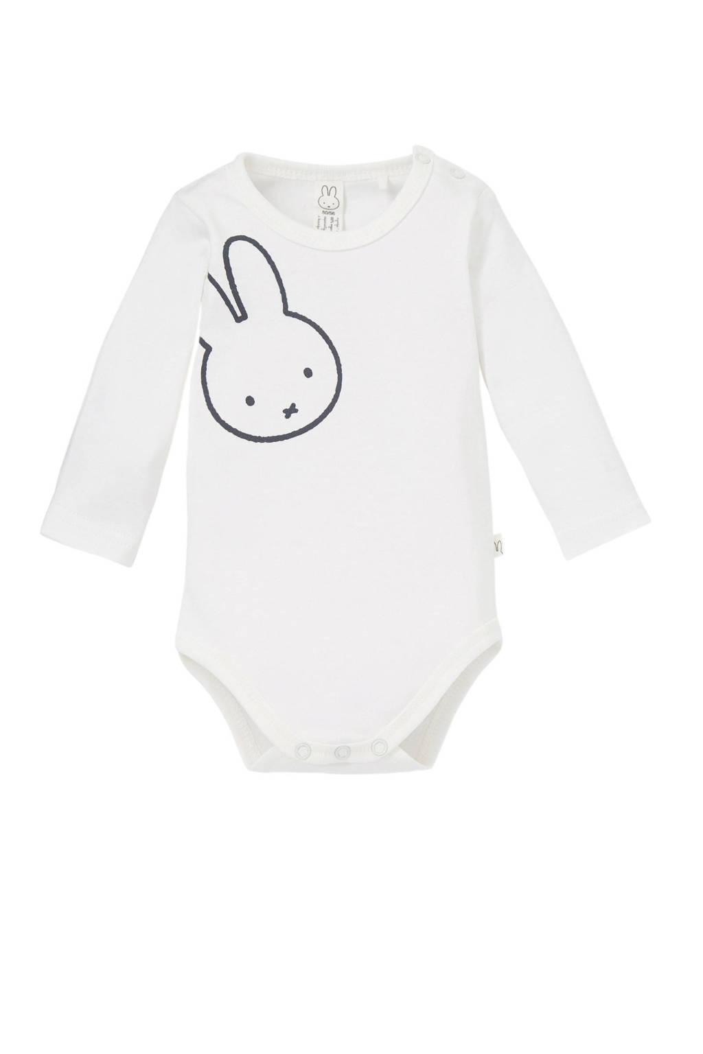 nijntje baby newborn romper met print wit, Wit