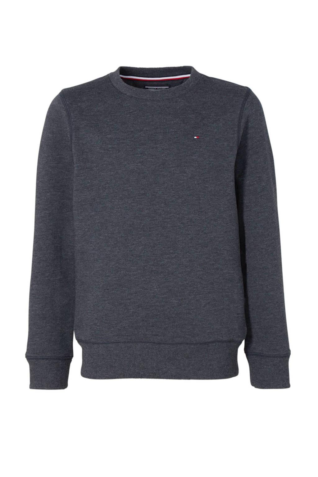 Tommy Hilfiger sweater donkerblauw, Donkerblauw melange