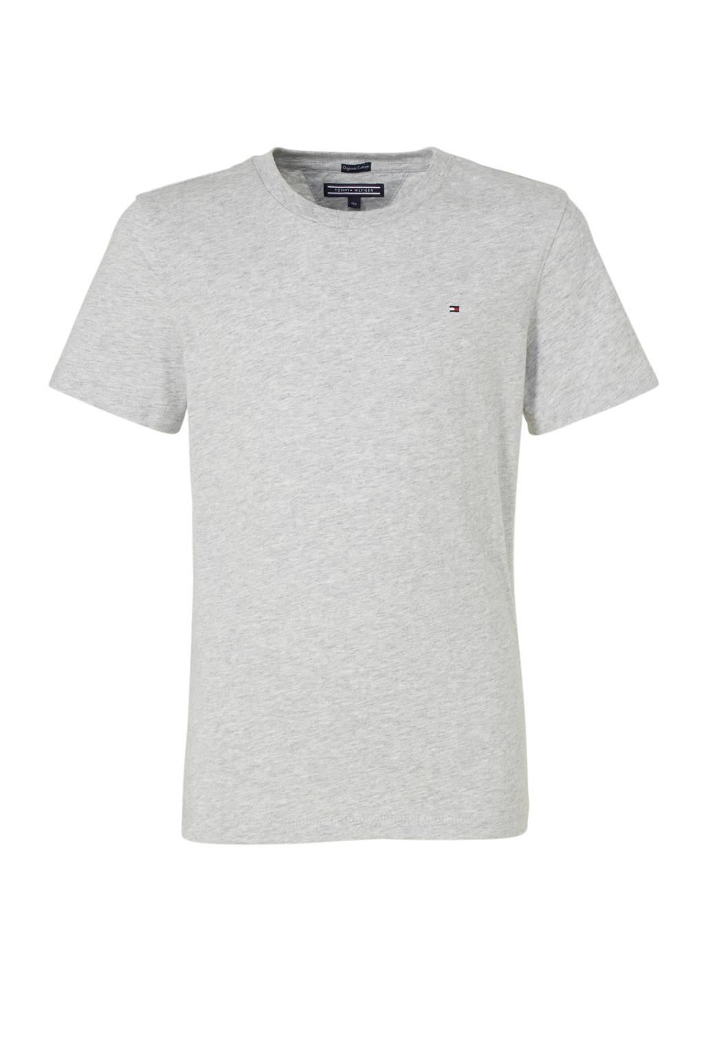Tommy Hilfiger T-shirt grijs melange, Grijs melange