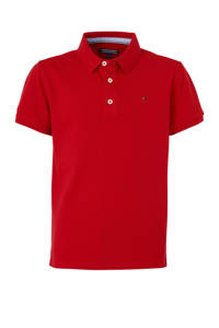 Tommy Hilfiger piqué polo rood, Rood