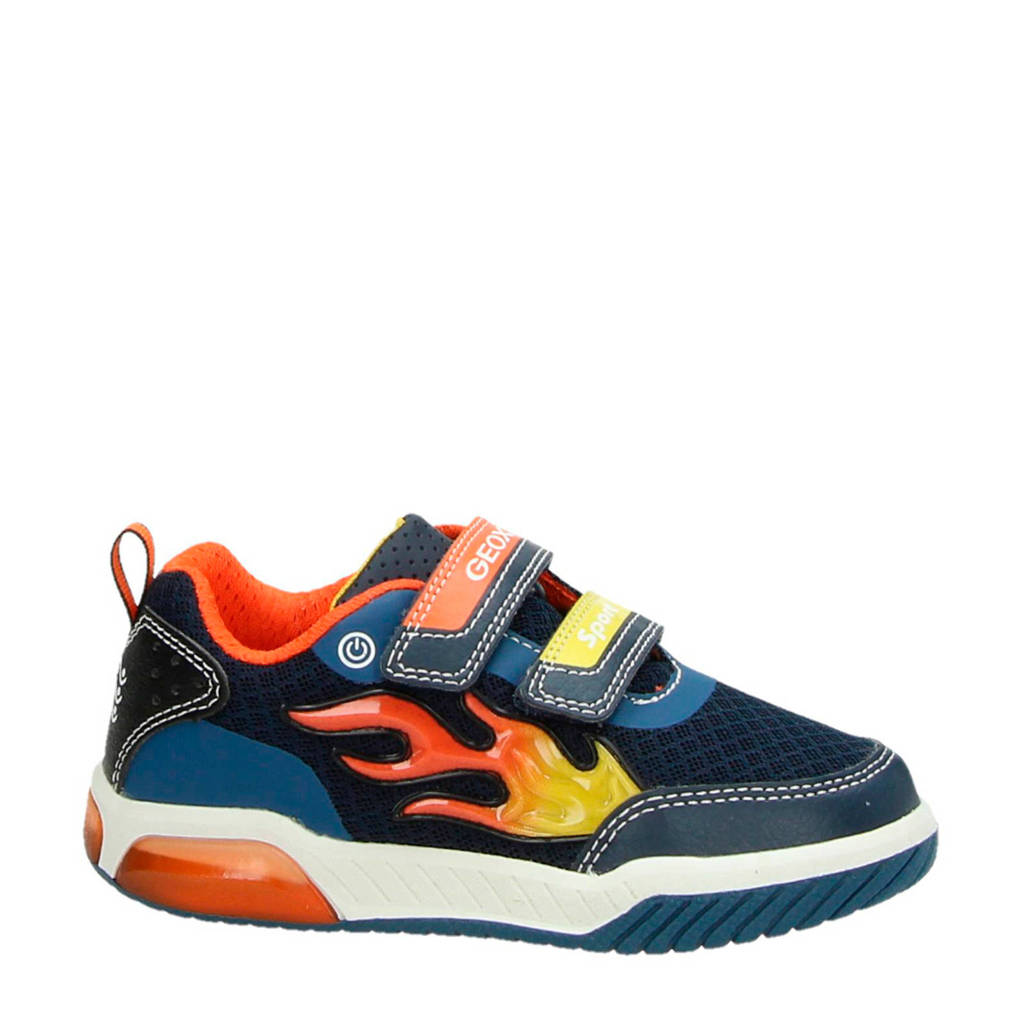Geox  J Inek Boy sneakers blauw, Blauw/multi