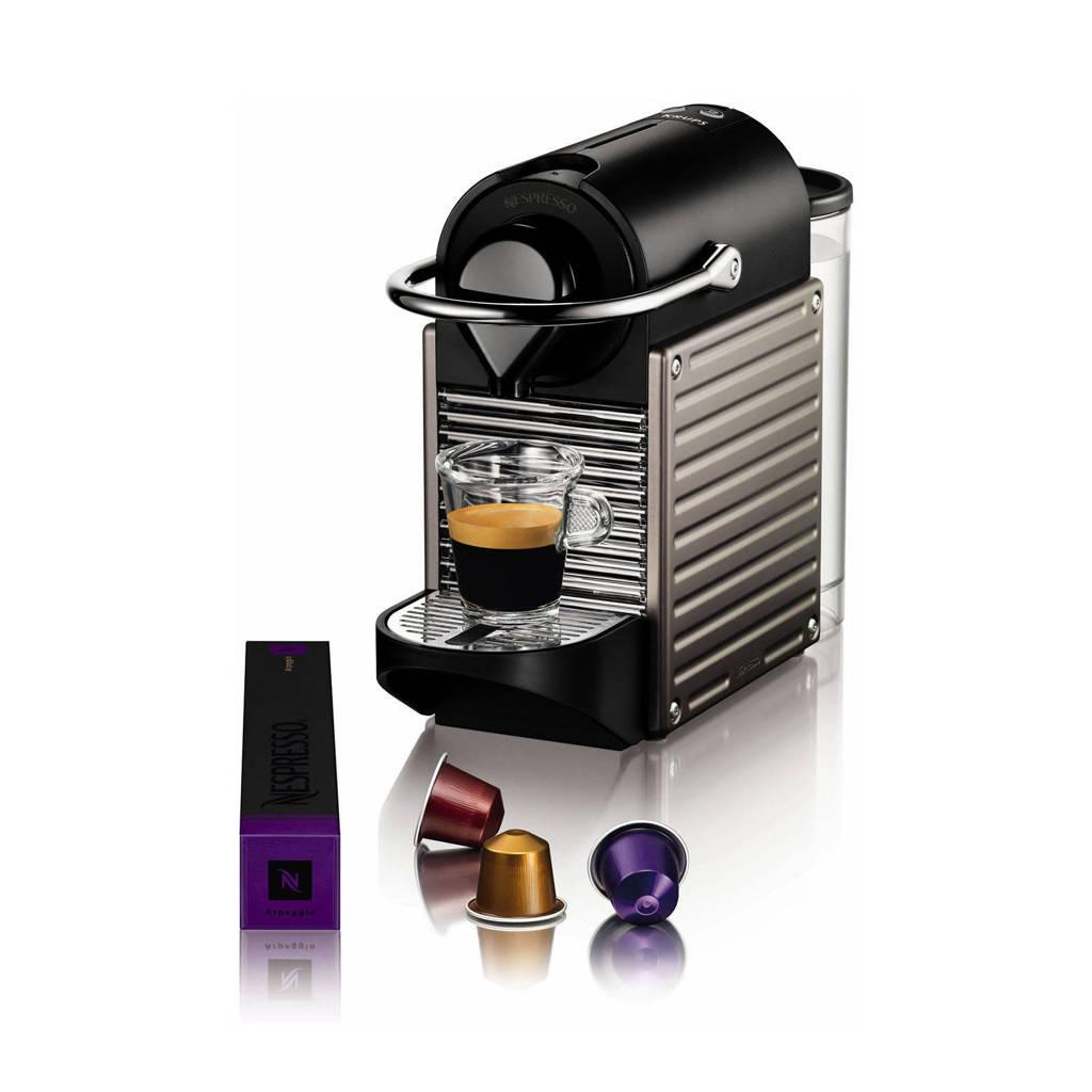 Krups XN304T Pixie Nespressomachine, Titanium