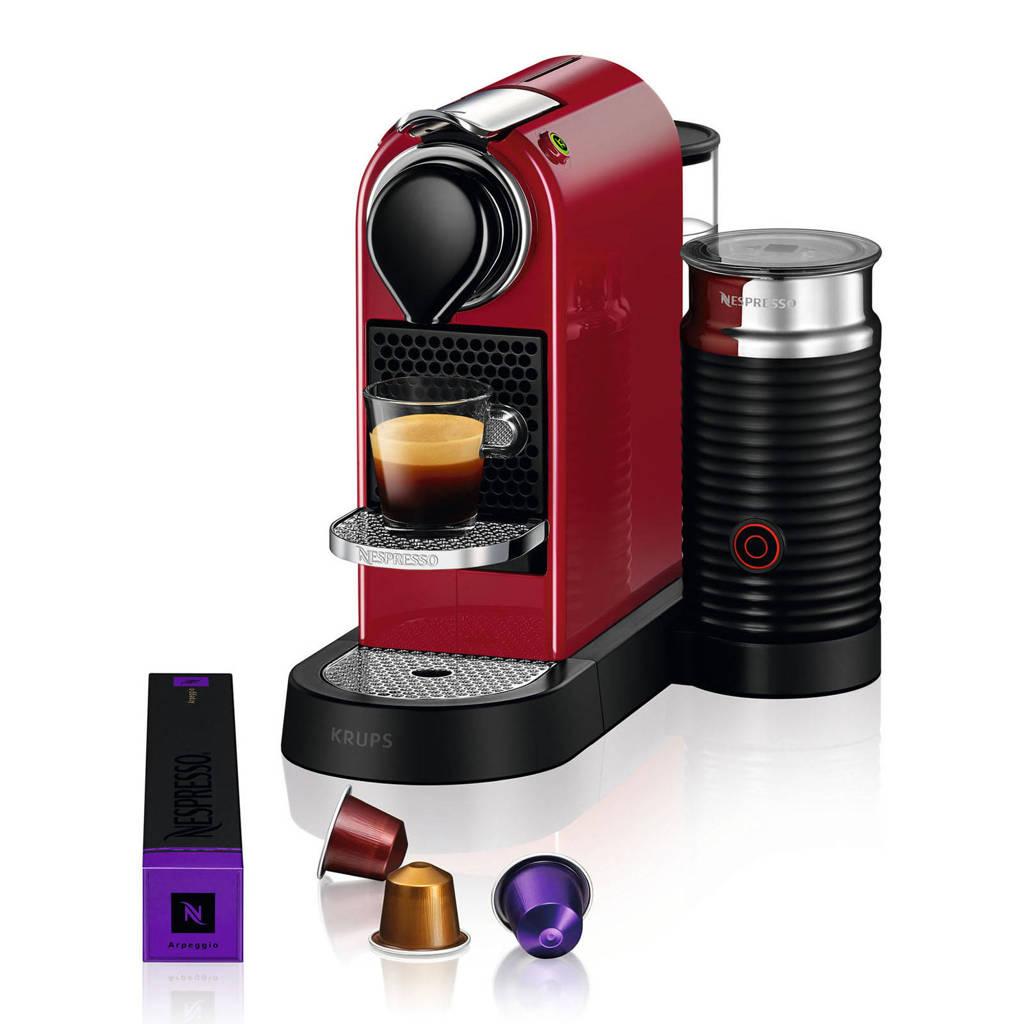 Krups CitiZ & Milk XN7615 Nespresso machine, Rood