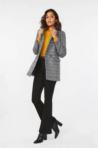 WE Fashion geruite blazer zwart/wit, Zwart/wit