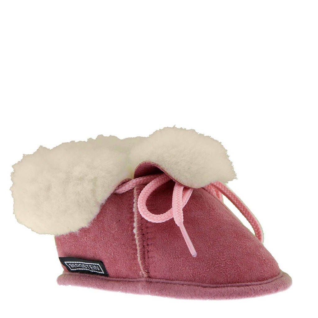 Bergstein Bambi suede babyslofjes roze, Roze