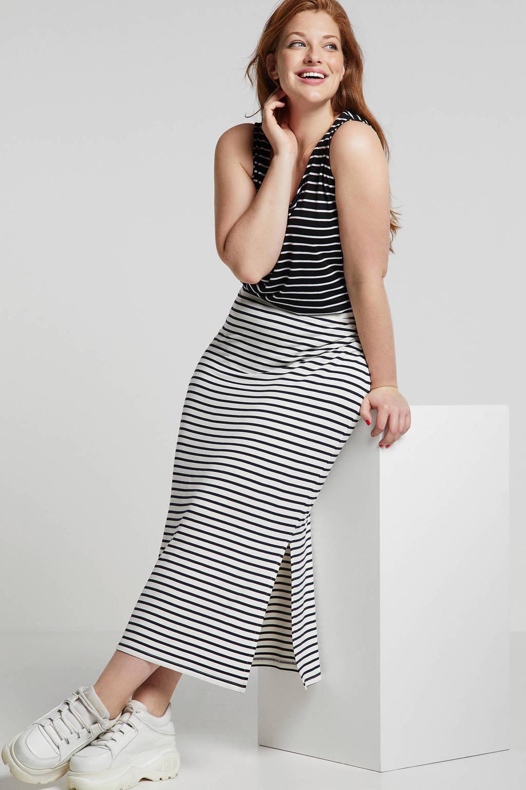 whkmp's great looks gestreepte top zwart, Zwart/wit